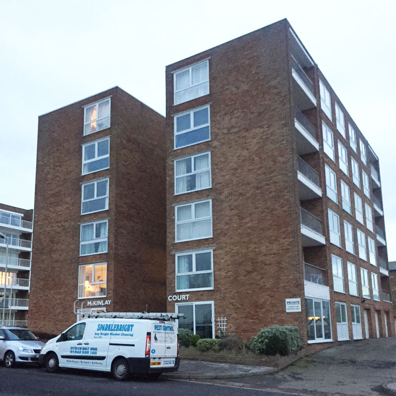 Image of our domestic building cleaned by Sparklebright